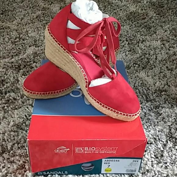 Abeo Shoes | Abeo Bio Dee Red